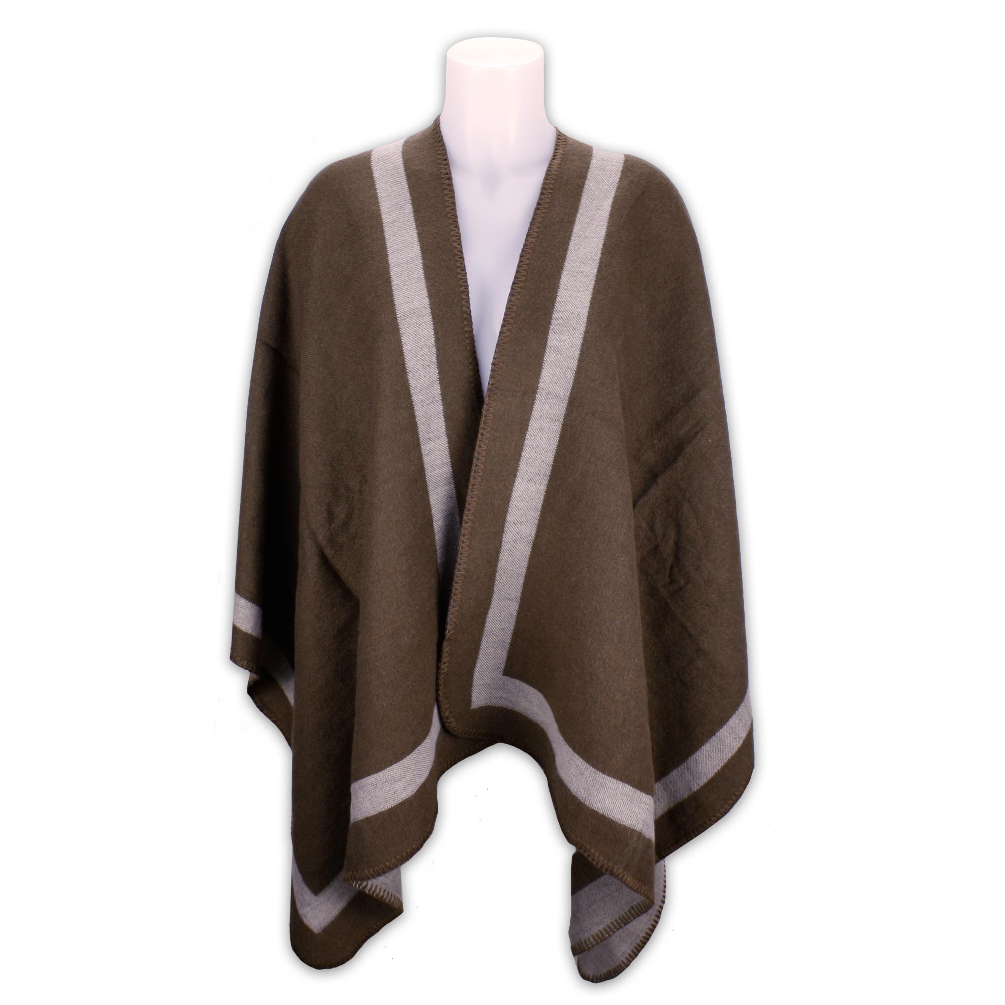 poncho mit wolle cape umhang bergangsjacke mantel. Black Bedroom Furniture Sets. Home Design Ideas