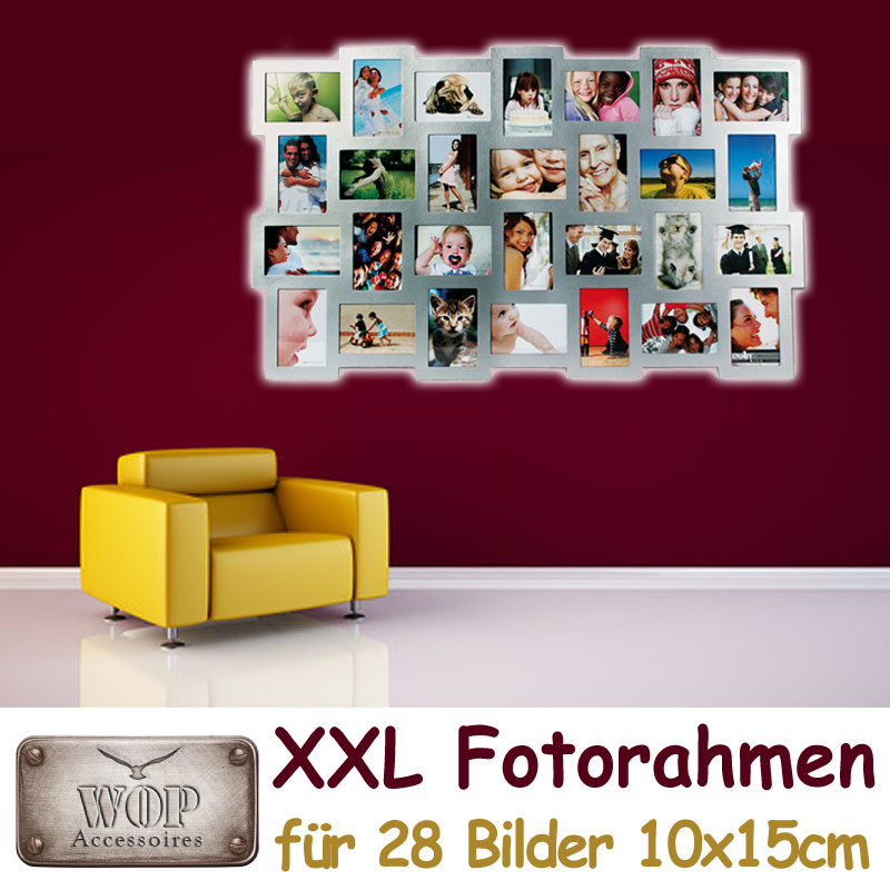 xxl bilderrahmen bildergalerie foto fotorahmen rahmen holz collage si ebay. Black Bedroom Furniture Sets. Home Design Ideas