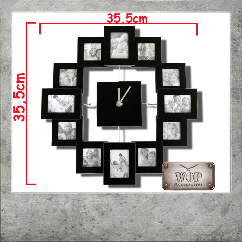 fotouhr bilderuhr wanduhr uhr foto 3d bilderrahmen. Black Bedroom Furniture Sets. Home Design Ideas