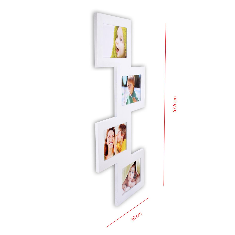 bilderrahmen bildergalerie 4 fotos 10 x 15 cm fotorahmen criss cross s w ebay. Black Bedroom Furniture Sets. Home Design Ideas