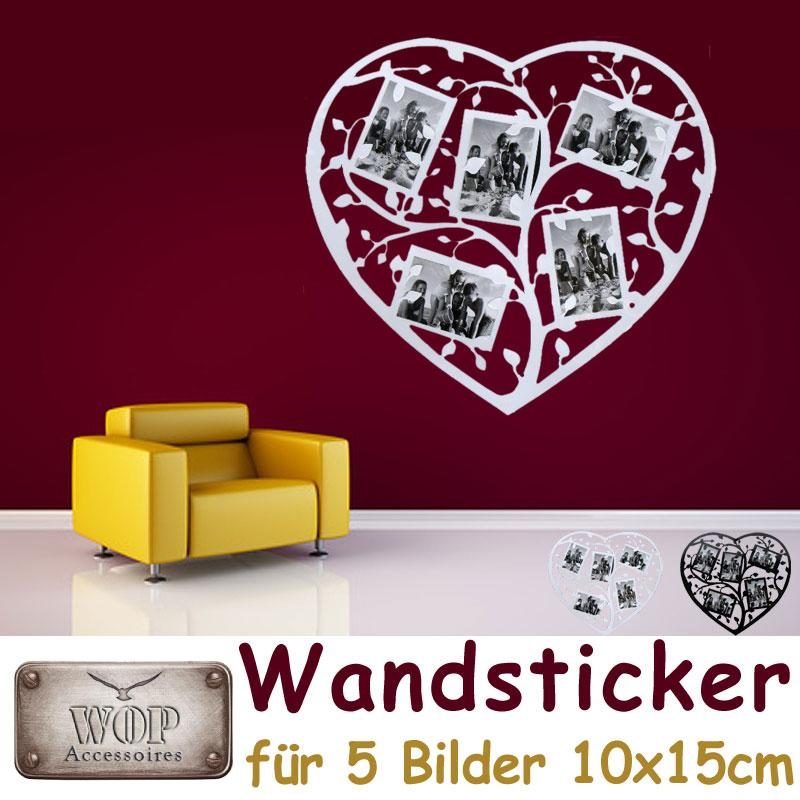 xxl wandsticker bilderrahmen fotohalter herz fotorahmen. Black Bedroom Furniture Sets. Home Design Ideas