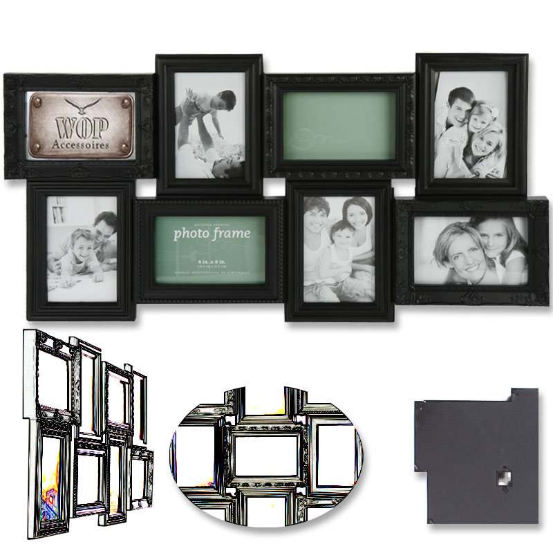 bilderrahmen bildergalerie fotorahmen fotohalter foto bild rahmen wei ebay. Black Bedroom Furniture Sets. Home Design Ideas