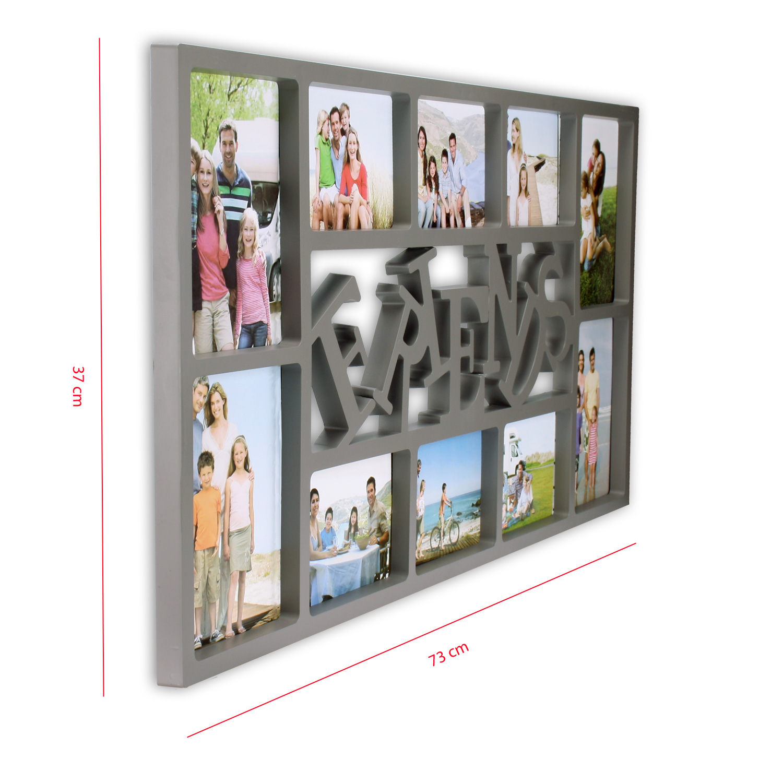 bilderrahmen 36 5 x 72 cm familiy friends home love schwarz grau weiss. Black Bedroom Furniture Sets. Home Design Ideas