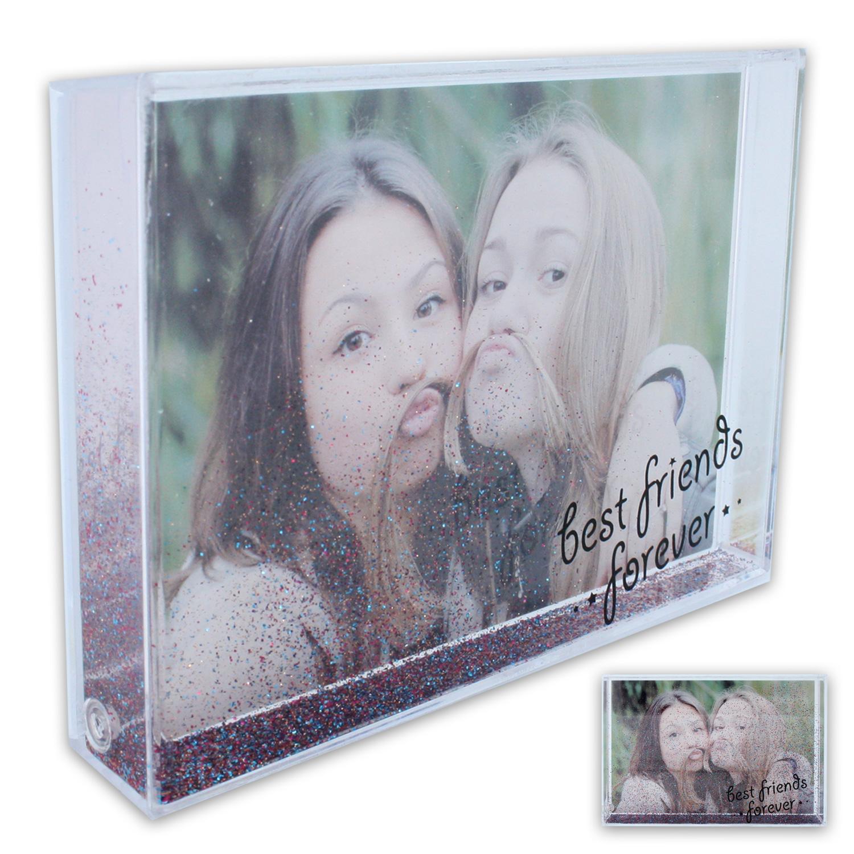 Acryl Bilderrahmen Fotorahmen Fotohalter Foto 10 x 15 cm mit Glitter ...