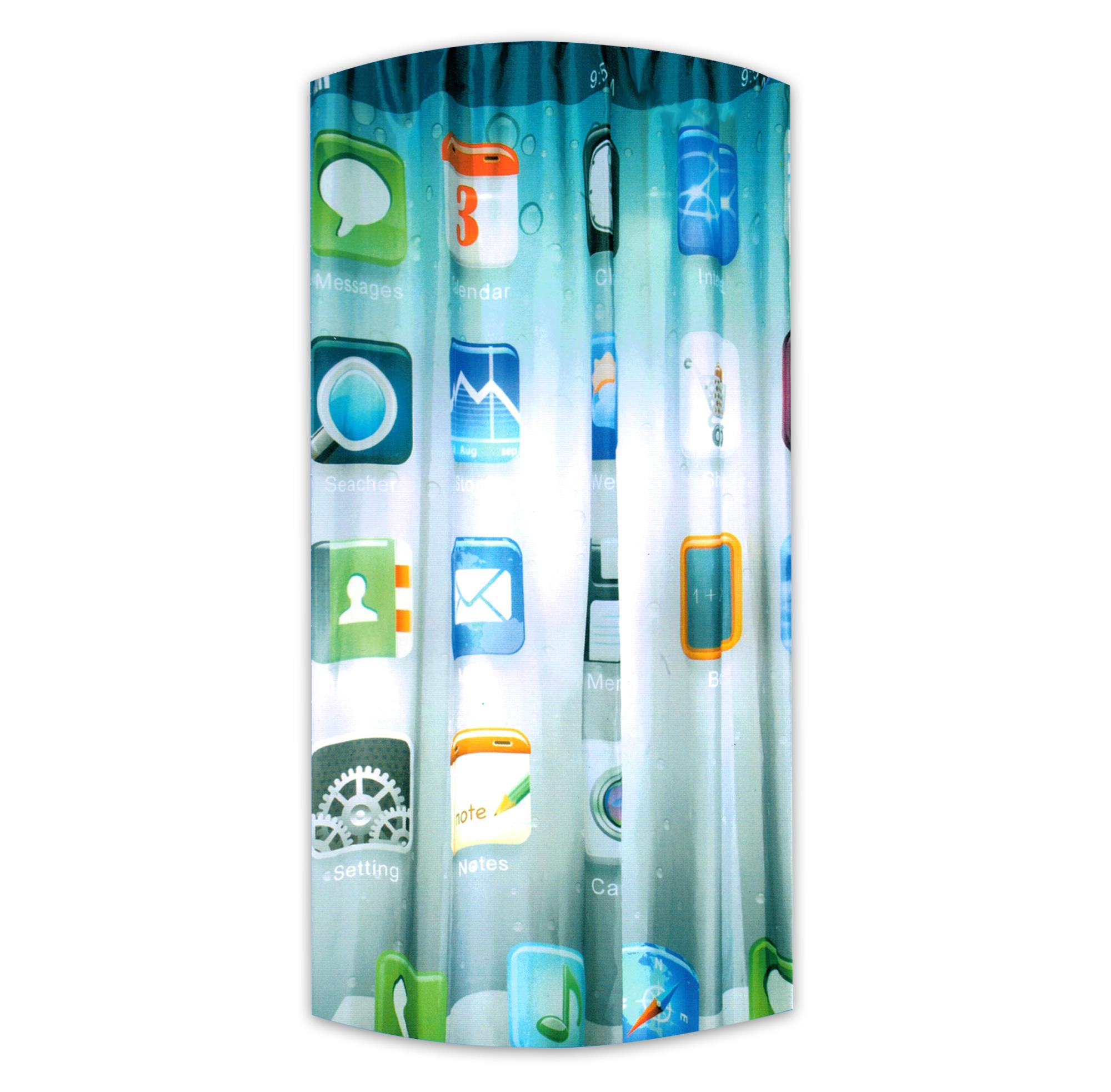 Duschvorhang dusche bad vorhang badewannenvorhang 180 x for Coole duschvorha nge