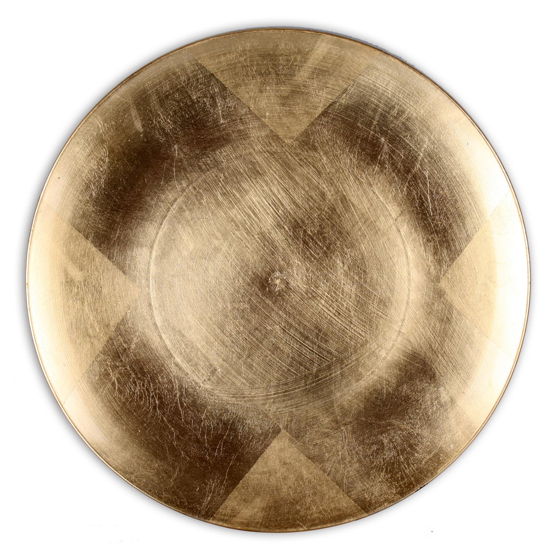 Dekoteller-33-cm-Melamin-Deko-Teller-Dekoschale-Schale-in-rot-gold-silber-gruen