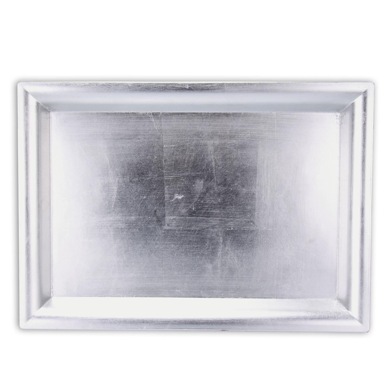 dekotablett 41 cm lang melamin tablett serviertablett servierplatte silber gold ebay. Black Bedroom Furniture Sets. Home Design Ideas