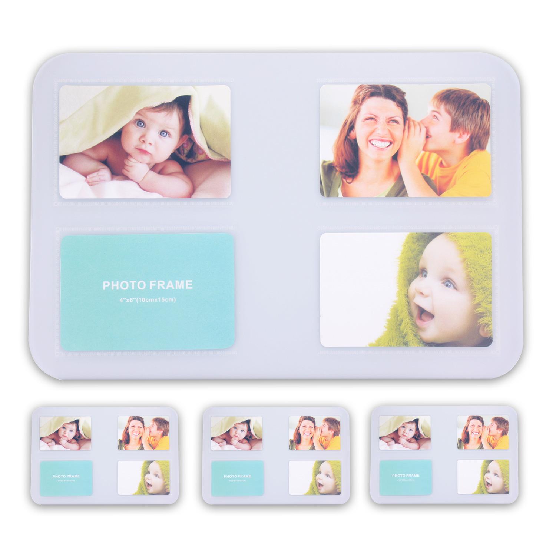 Tischset-Platzset-Untersetzer-Foto-Platzdeckchen-abwaschbar-4-12er-SET-5-Farben Indexbild 2