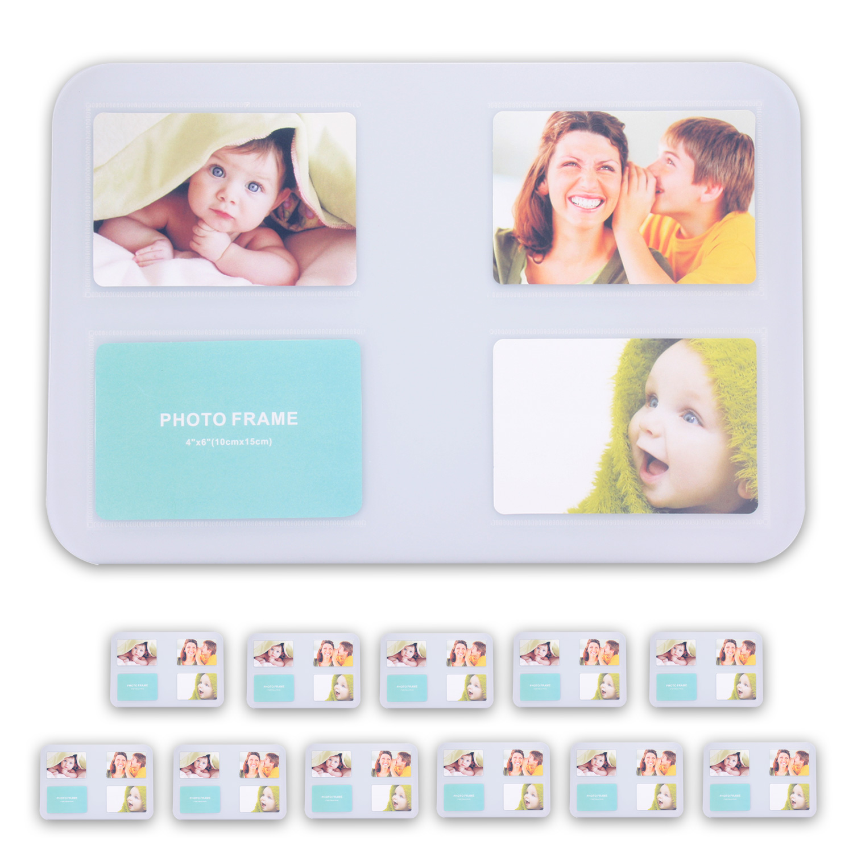 tischset platzset untersetzer foto platzdeckchen abwaschbar 4 12er set 5 farben. Black Bedroom Furniture Sets. Home Design Ideas