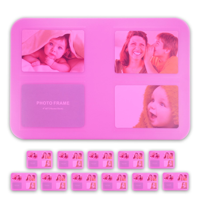 Tischset-Platzset-Untersetzer-Foto-Platzdeckchen-abwaschbar-4-12er-SET-5-Farben Indexbild 4