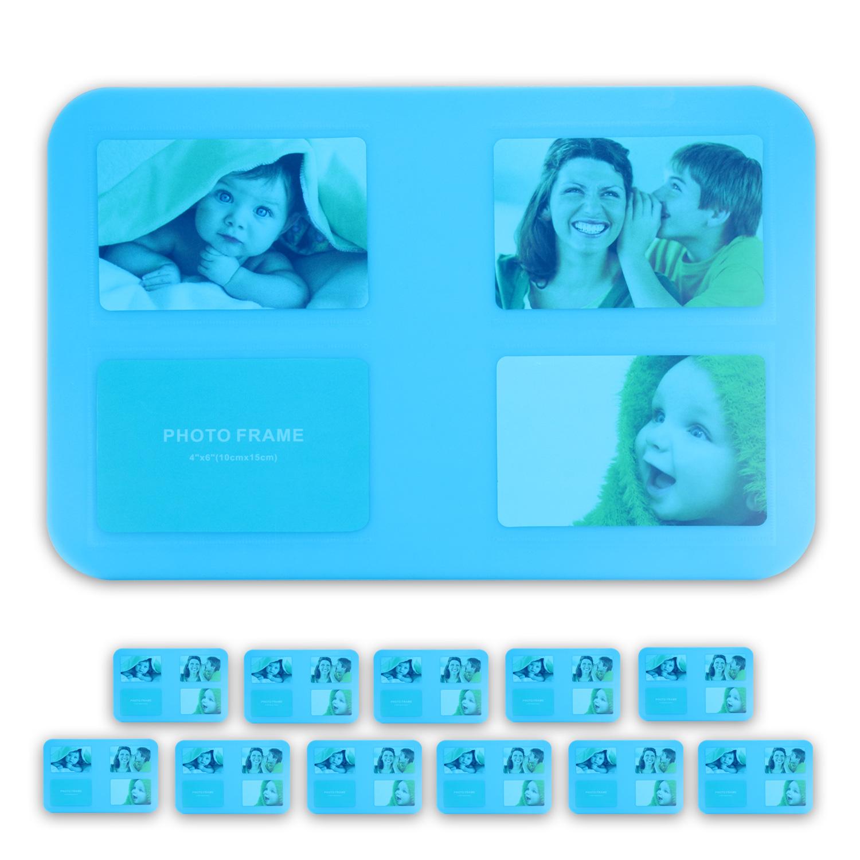 tischset platzset untersetzer foto platzdeckchen abwaschbar 4 12er set 5 farben ebay. Black Bedroom Furniture Sets. Home Design Ideas