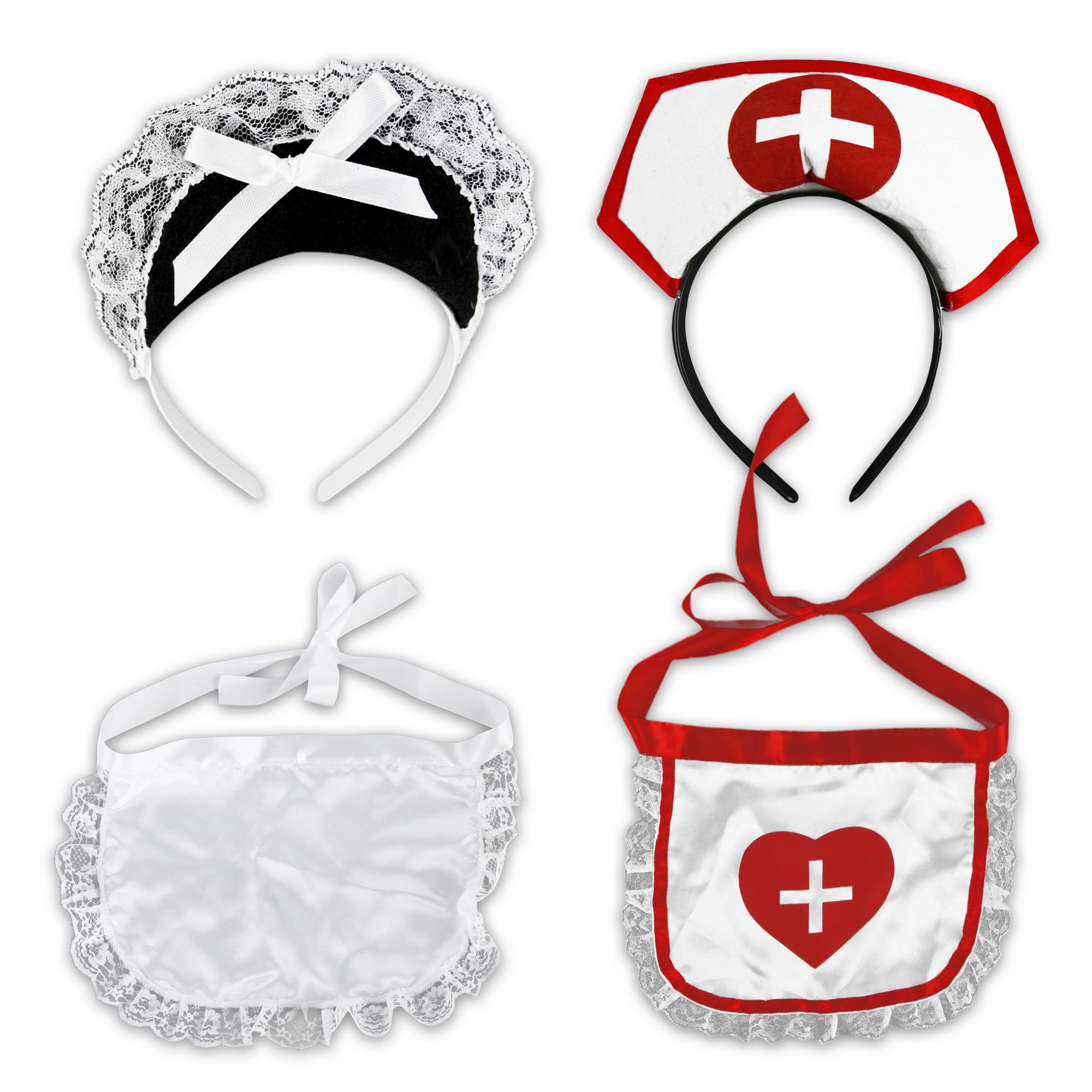housemaid nurse kostuemset carnival 2 set kbv apron. Black Bedroom Furniture Sets. Home Design Ideas