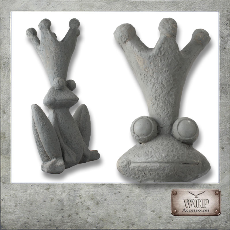 xl garten deko figur statue teich skulptur dekofigur steinfigur frosch. Black Bedroom Furniture Sets. Home Design Ideas