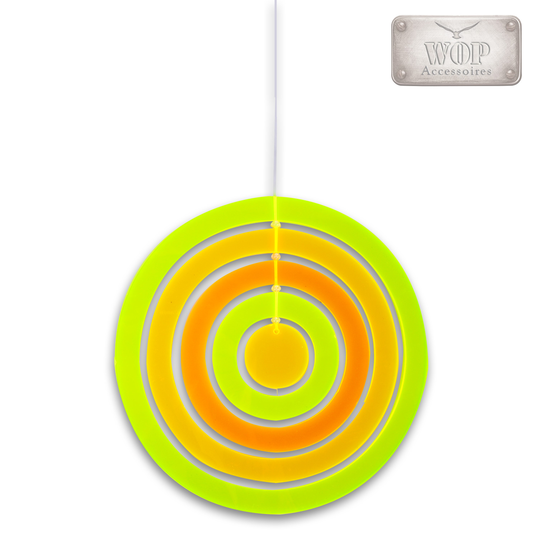 lichtspiel mobile windspiel sonnenf nger fluoreszierend plexiglas orange gr n ebay. Black Bedroom Furniture Sets. Home Design Ideas