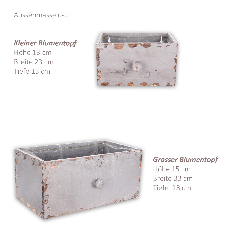 blumentopf blumenk bel pflanzk bel bertopf holz topf schublade 4 farben 2er set. Black Bedroom Furniture Sets. Home Design Ideas