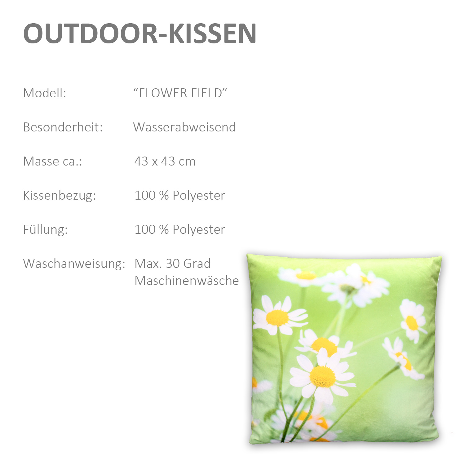 outdoor kissen polyester bestseller shop mit top marken. Black Bedroom Furniture Sets. Home Design Ideas