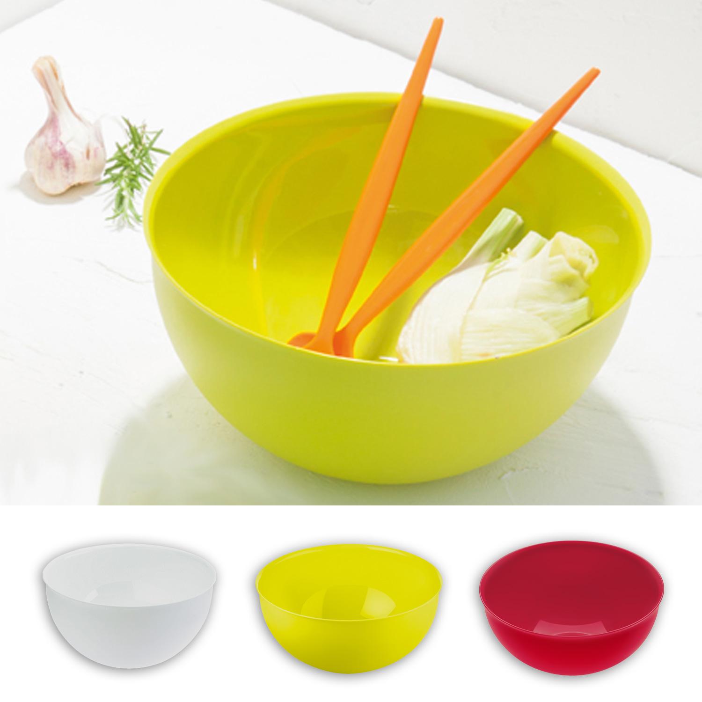 koziol salad bowl palsby l fruit bowl dish white mustard. Black Bedroom Furniture Sets. Home Design Ideas