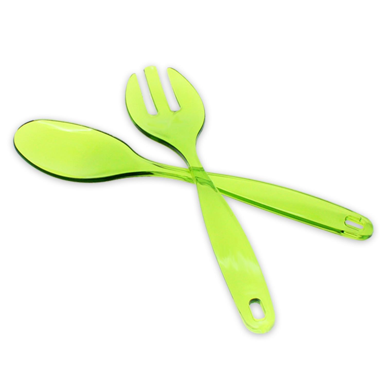 salatbesteck salatl ffel servierbesteck salat besteck kunststoff rot blau gr n ebay. Black Bedroom Furniture Sets. Home Design Ideas