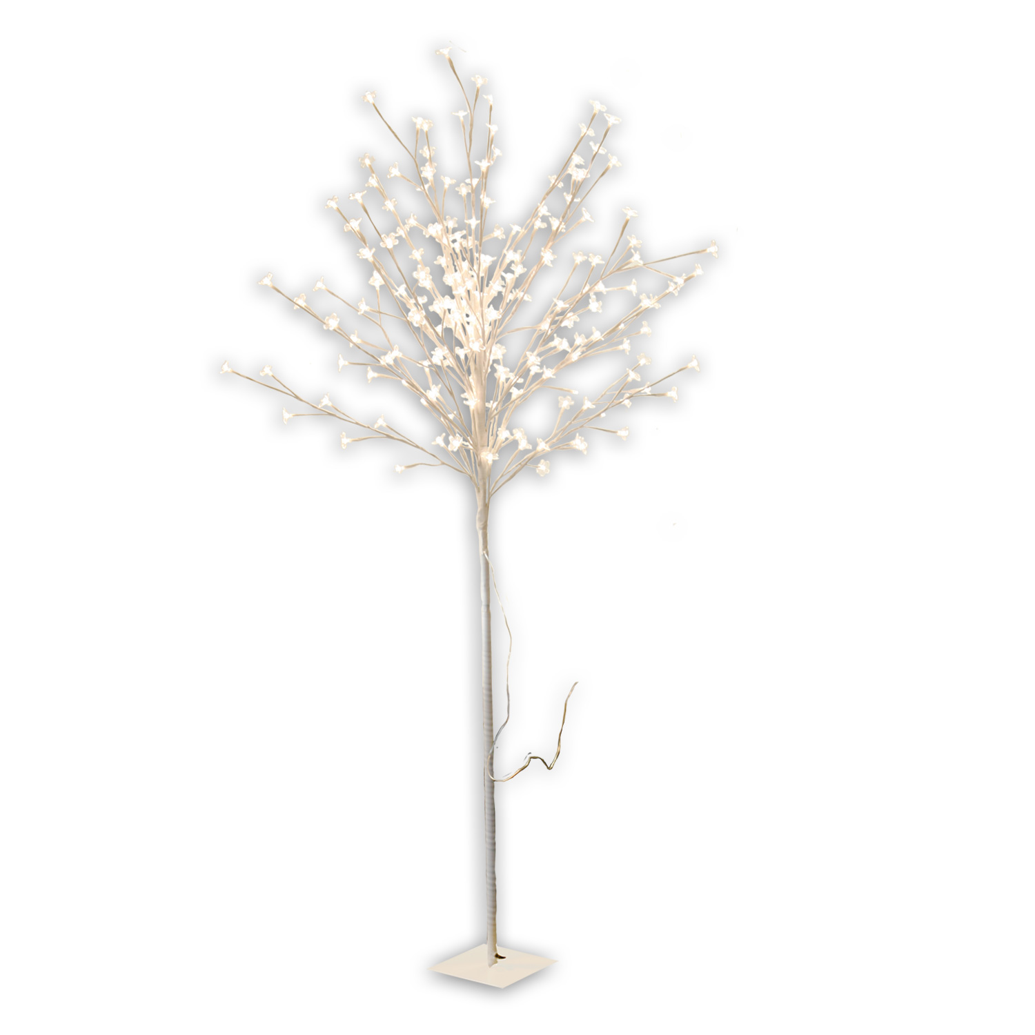 led baum lichtbaum 200 leds 150cm stamm perlmutt silber schwarz bl te weiss pink ebay. Black Bedroom Furniture Sets. Home Design Ideas