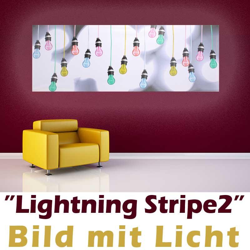 bild mit beleuchtung leinwand gem lde gl birne holzrahmen kunstdruck 2. Black Bedroom Furniture Sets. Home Design Ideas