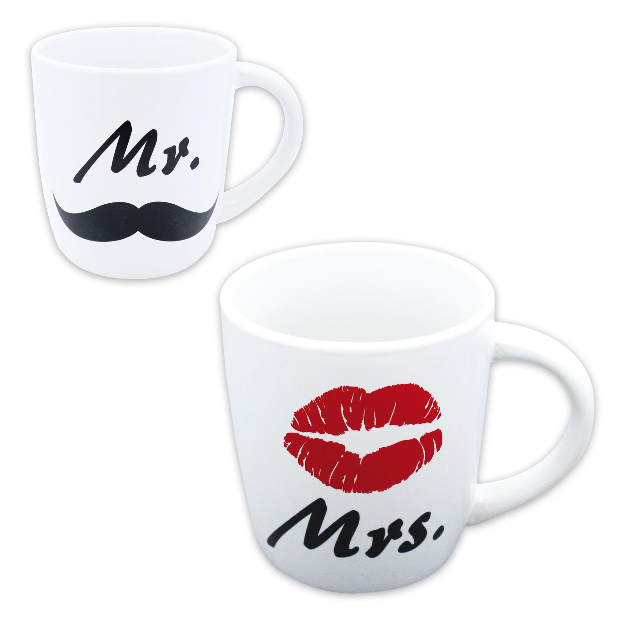 Tasse Mr Mrs : tasse mr mrs kaffeetasse teetasse sammlertasse dekotasse keramik 2er set ebay ~ Teatrodelosmanantiales.com Idées de Décoration