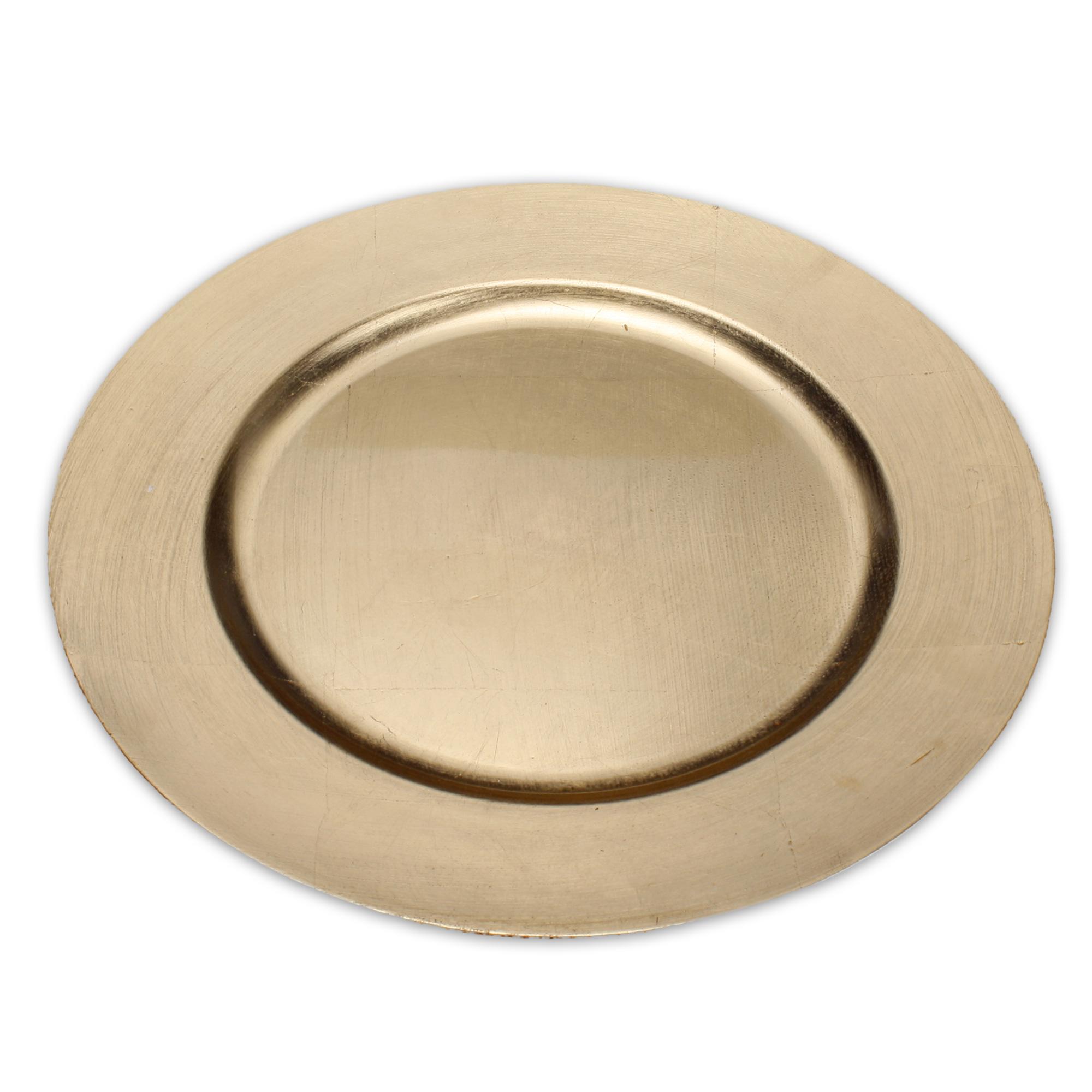 Sehr eleganter dekoteller 33 cm aus melamin in gold - Dekoteller gold ...