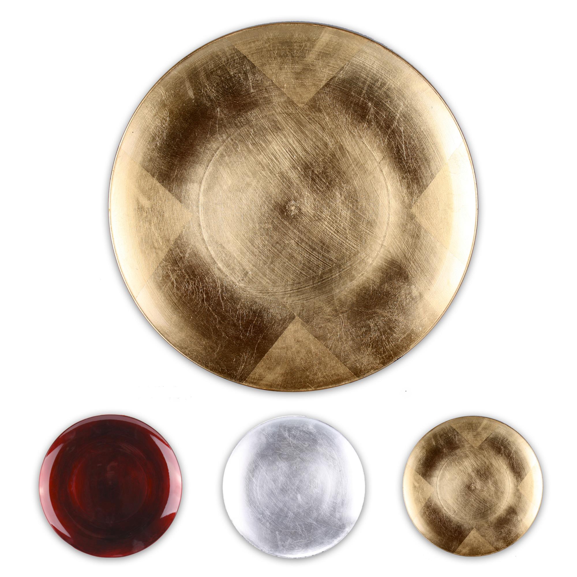 Decorative plate 28 cm melamine fruit plate plate plastic plate red gold silver ebay - Dekoteller gold ...