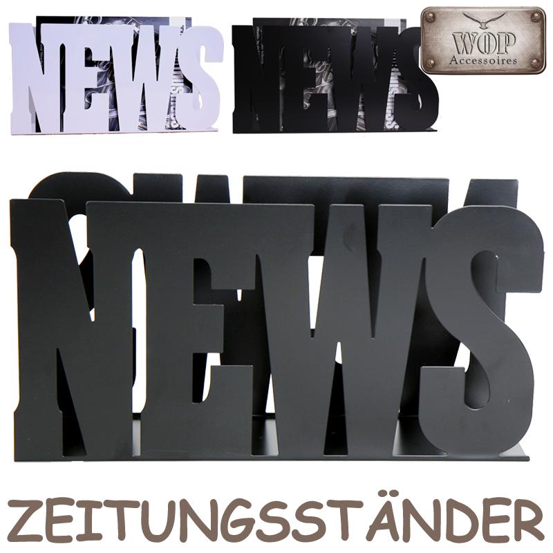 zeitungshalter zeitschriftenst nder zeitschriftenhalter zeitungskorb ebay. Black Bedroom Furniture Sets. Home Design Ideas