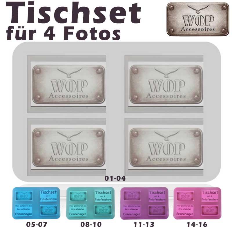 tischset platzset untersetzer foto platzdeckchen abwaschbar set neu ebay. Black Bedroom Furniture Sets. Home Design Ideas