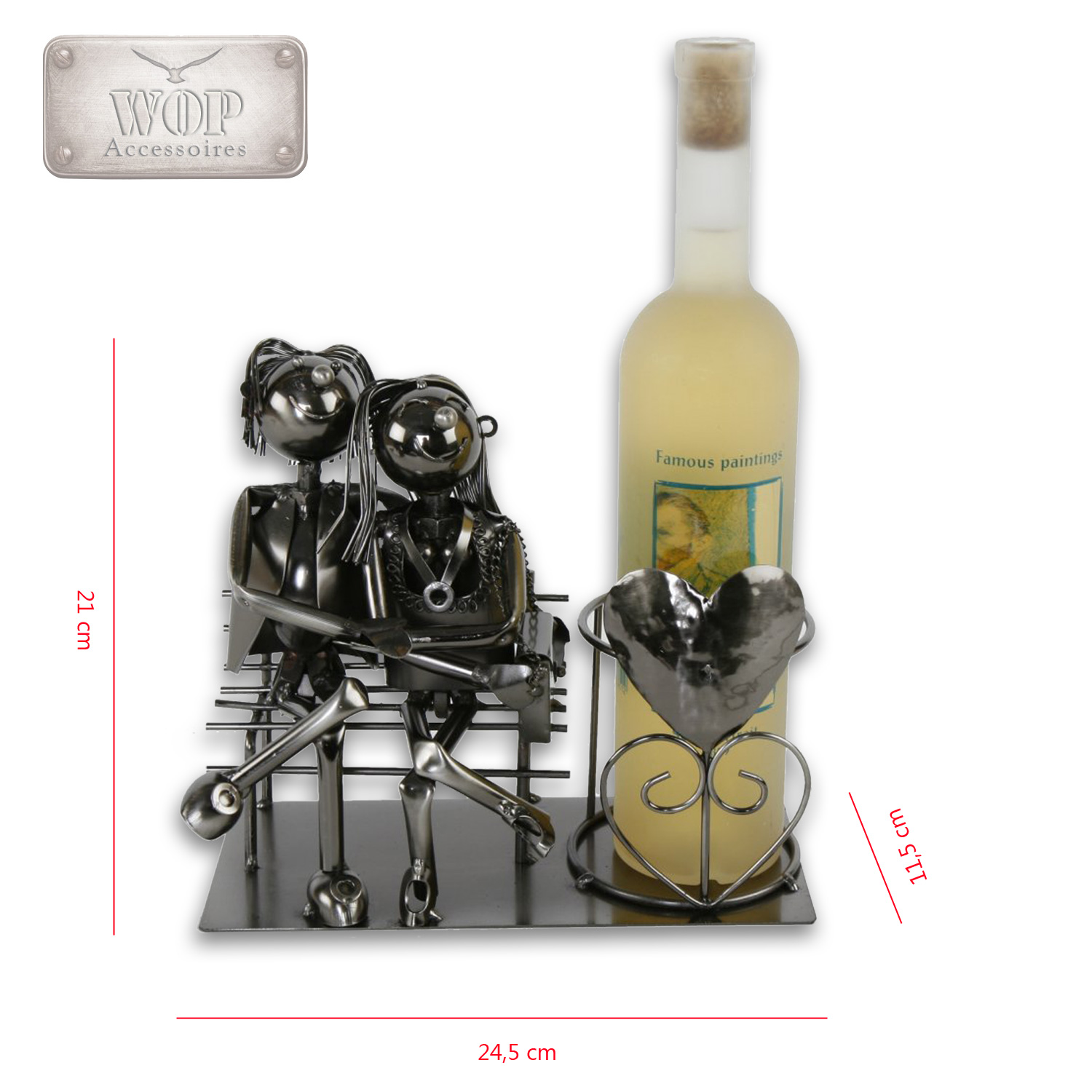 Wine bottle holder bottle nhalter metal bottle stand for Wine shop decoration