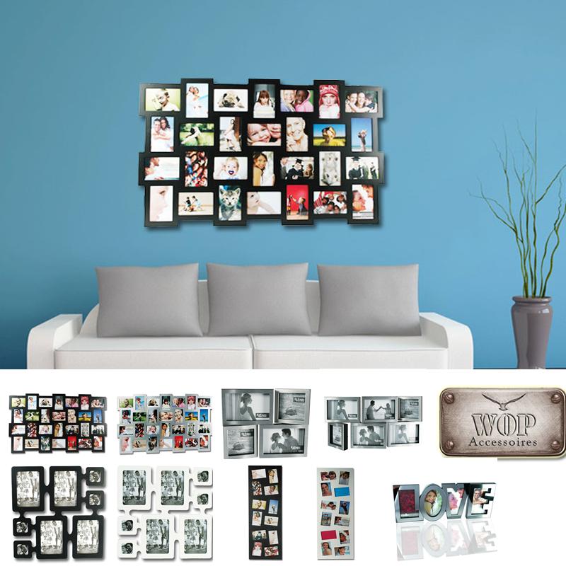 bilderrahmen bildergalerie foto fotogalerie fotorahmen alu collage neu ebay. Black Bedroom Furniture Sets. Home Design Ideas