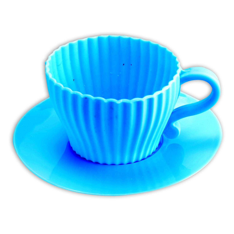 silikon cupcake backform mini kaffeetassen muffin backf rmchen 4er set 4farbig ebay. Black Bedroom Furniture Sets. Home Design Ideas