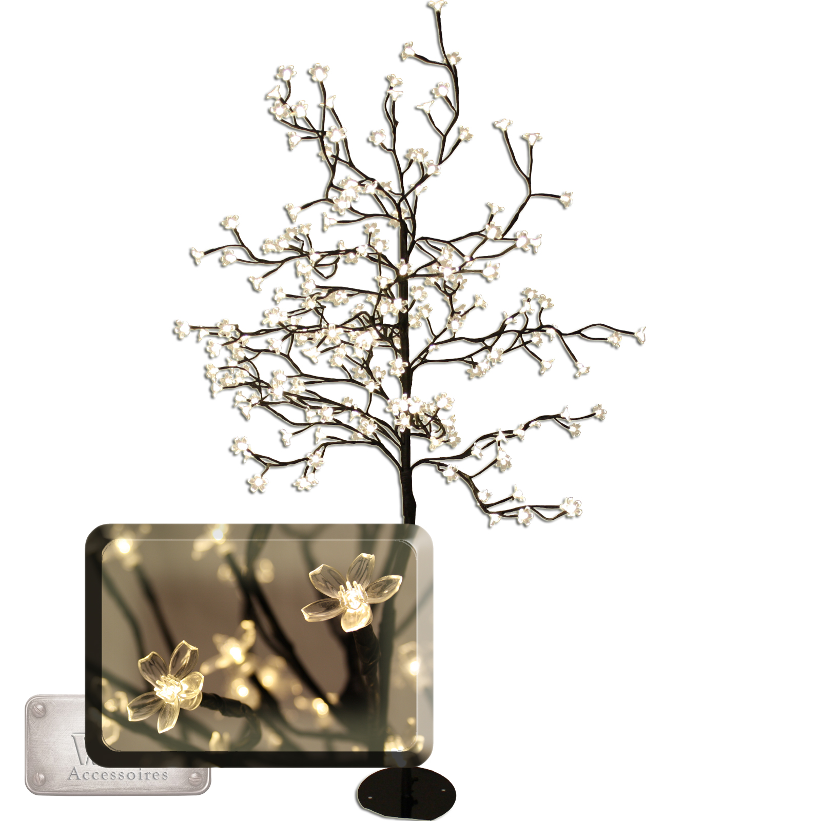 led baum lichtbaum leuchtbaum lichterkette 200leds 150cm. Black Bedroom Furniture Sets. Home Design Ideas