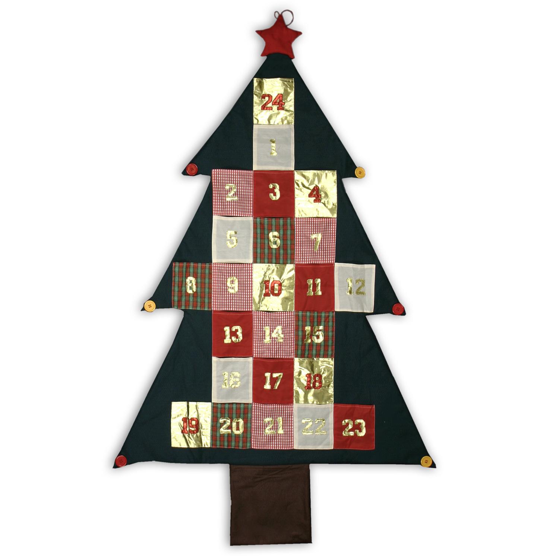 adventskalender 24 x taschen weihnachtsbaum. Black Bedroom Furniture Sets. Home Design Ideas