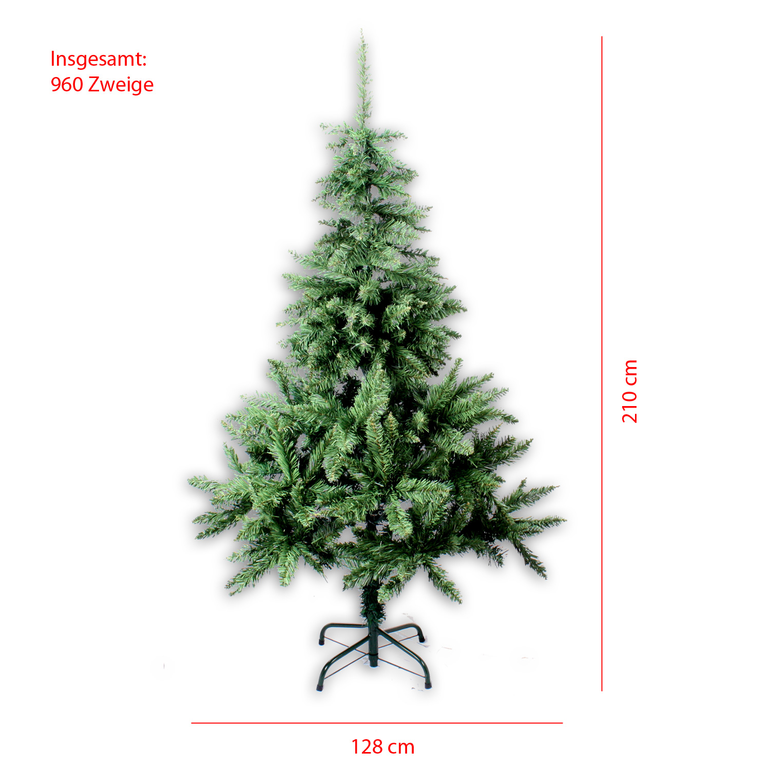 k nstlicher weihnachtsbaum 90 210 cm christbaum 100 960 zweige tannenbaum tirol ebay. Black Bedroom Furniture Sets. Home Design Ideas