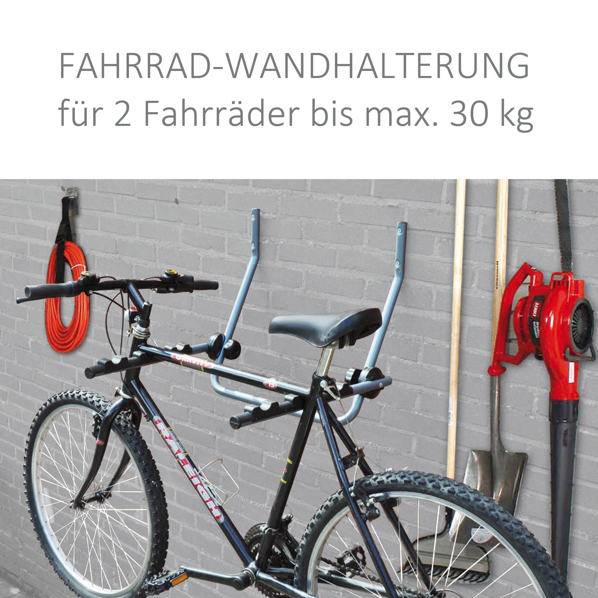 fahrradwandhalterung f r 2 fahrr der bis max 30 kg. Black Bedroom Furniture Sets. Home Design Ideas