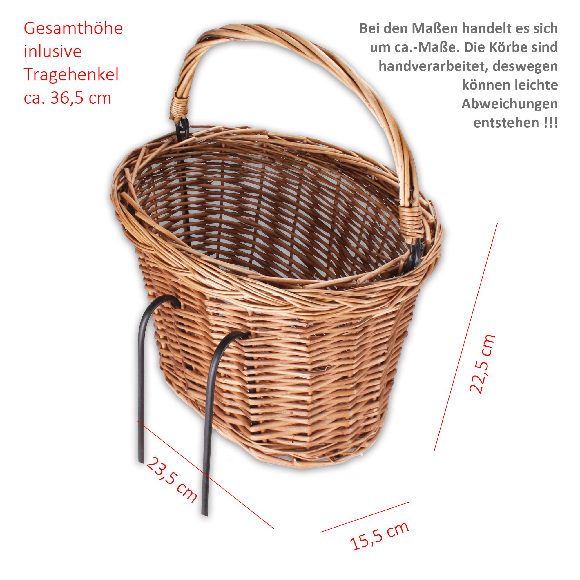 eleganter fahrrad korb aus flechtweide f r den transport. Black Bedroom Furniture Sets. Home Design Ideas