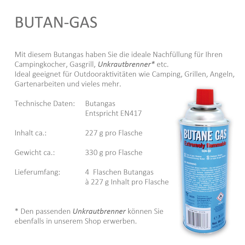 4 flaschen butan gas 227 g inhalt. Black Bedroom Furniture Sets. Home Design Ideas