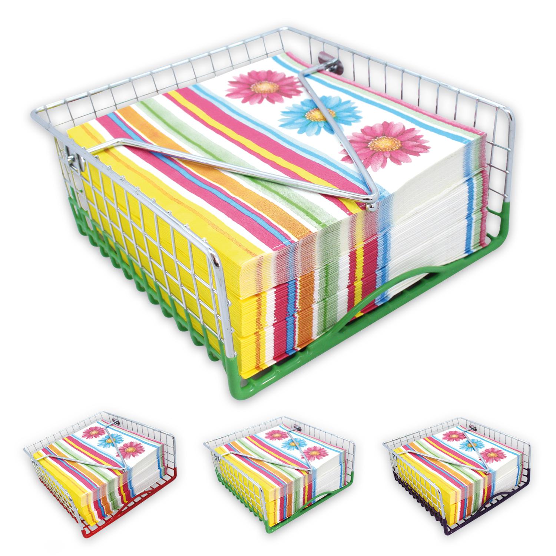 serviettenhalter inkl 3 packungen servietten st nder spender tischdeko 3 farben ebay. Black Bedroom Furniture Sets. Home Design Ideas
