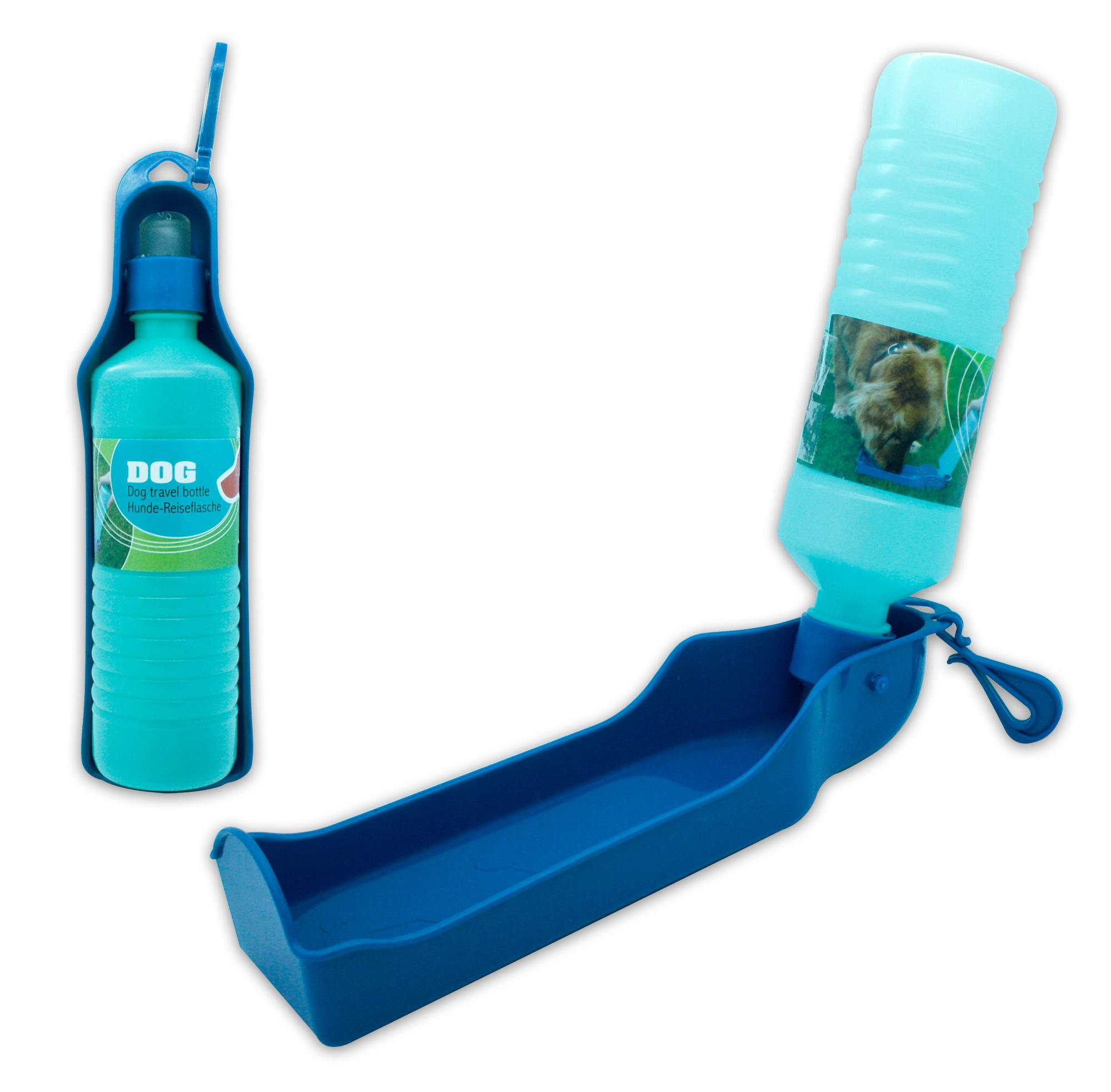 praktische hunde reise trinkflasche f r unterwegs mit karabiner 1er oder 3er set. Black Bedroom Furniture Sets. Home Design Ideas