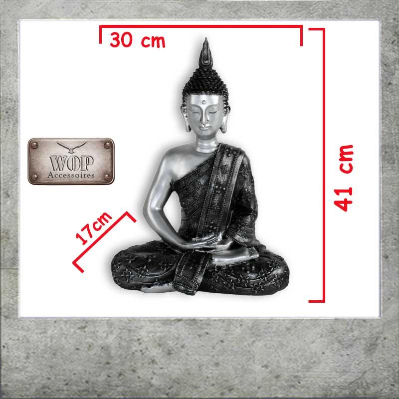 xl l buddha figur statue feng shui skulptur budda thai dekofigur neu ebay. Black Bedroom Furniture Sets. Home Design Ideas