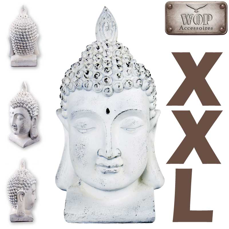 xxl buddha kopf statue feng shui skulptur budda thai. Black Bedroom Furniture Sets. Home Design Ideas