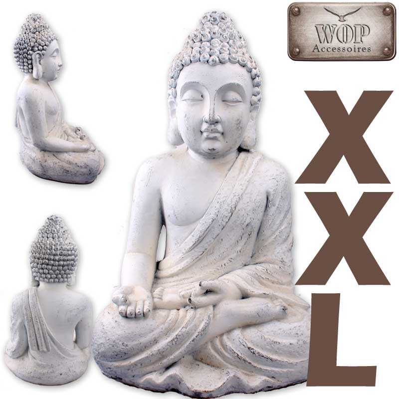 xxl buddha figur statue feng shui skulptur budda thai dekofigur garten ebay. Black Bedroom Furniture Sets. Home Design Ideas