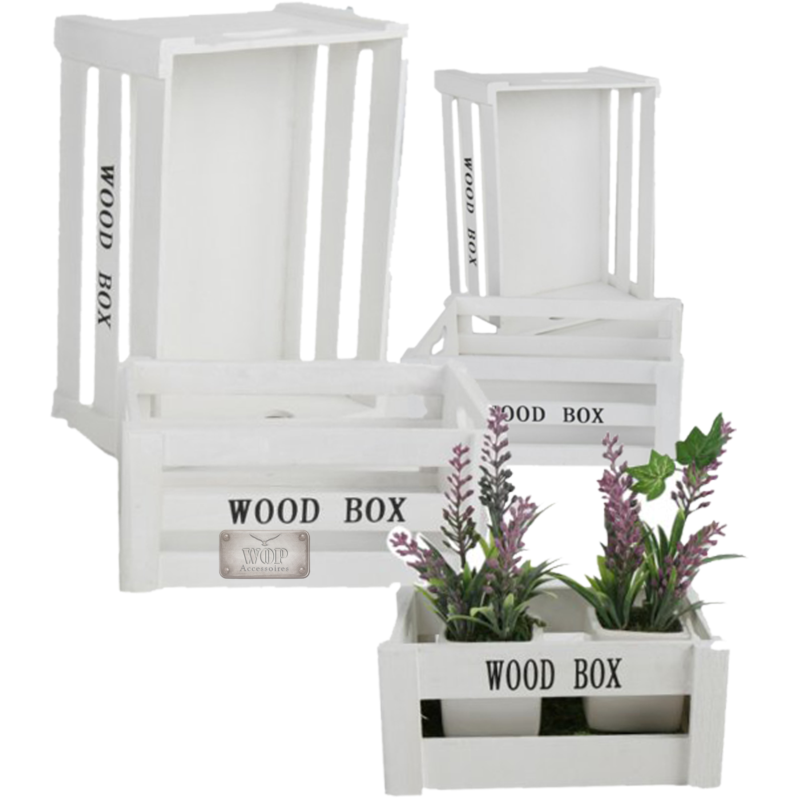 holzkiste weinkiste holzbox 5er set kiste deko aufbewahrungsbox box ebay. Black Bedroom Furniture Sets. Home Design Ideas