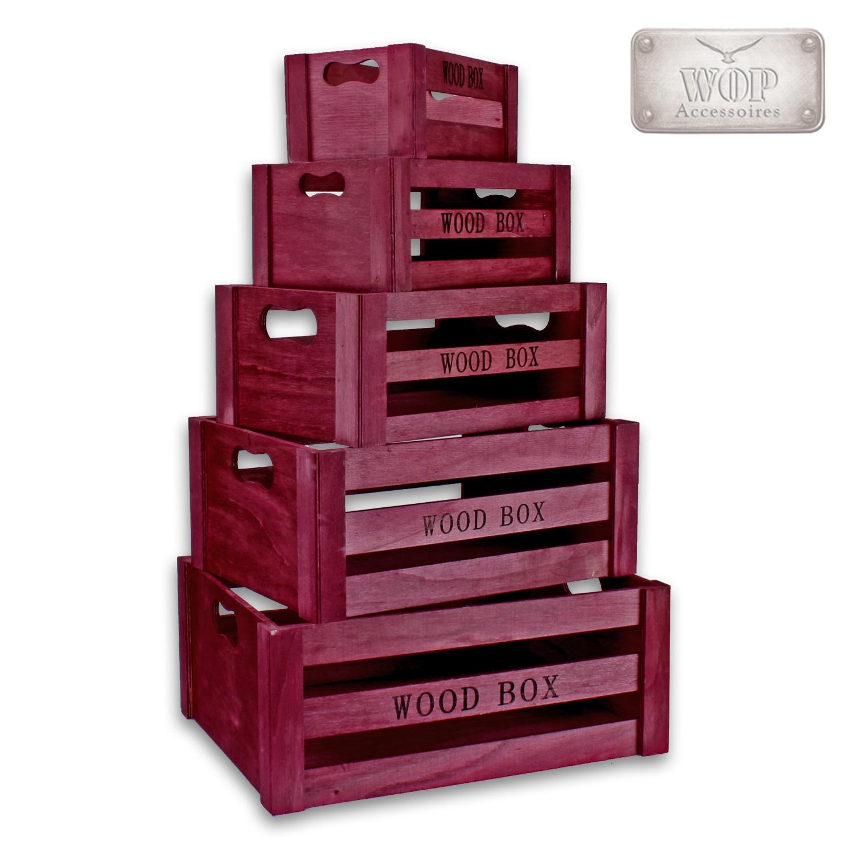Holzkiste-Weinkiste-Holzbox-5er-Set-Kiste-Deko-Aufbewahrungsbox-Box