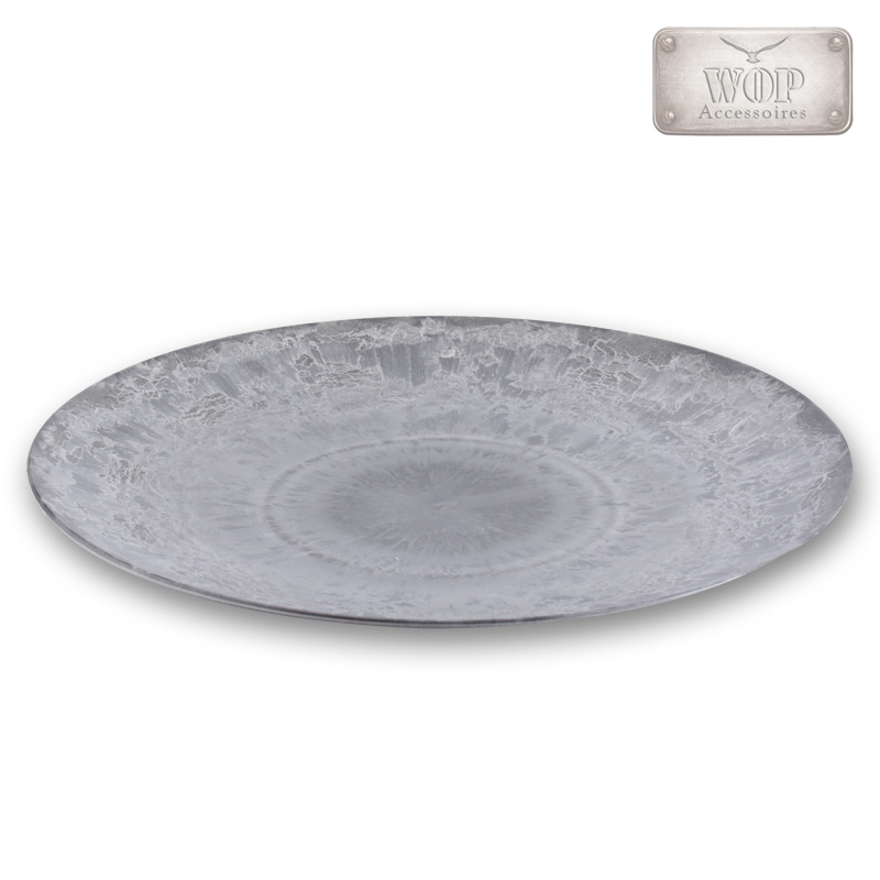 Dekoteller-Dekorationsteller-Teller-Kunststoffteller-Platzteller-Kunststoff-grau