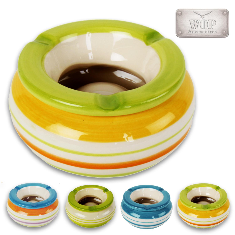 sturmaschenbecher aschenbecher windaschenbecher ascher 10 cm keramik l bunt ebay. Black Bedroom Furniture Sets. Home Design Ideas