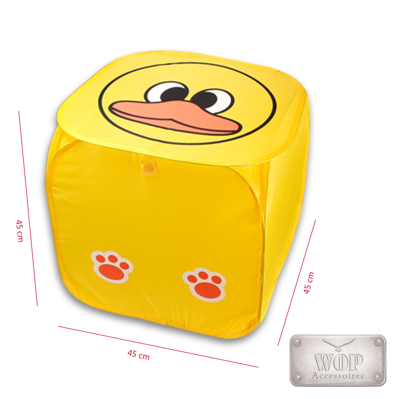 faltbare aufbewahrungsbox mit deckel faltbox spielzeugbox kiste organizer box. Black Bedroom Furniture Sets. Home Design Ideas