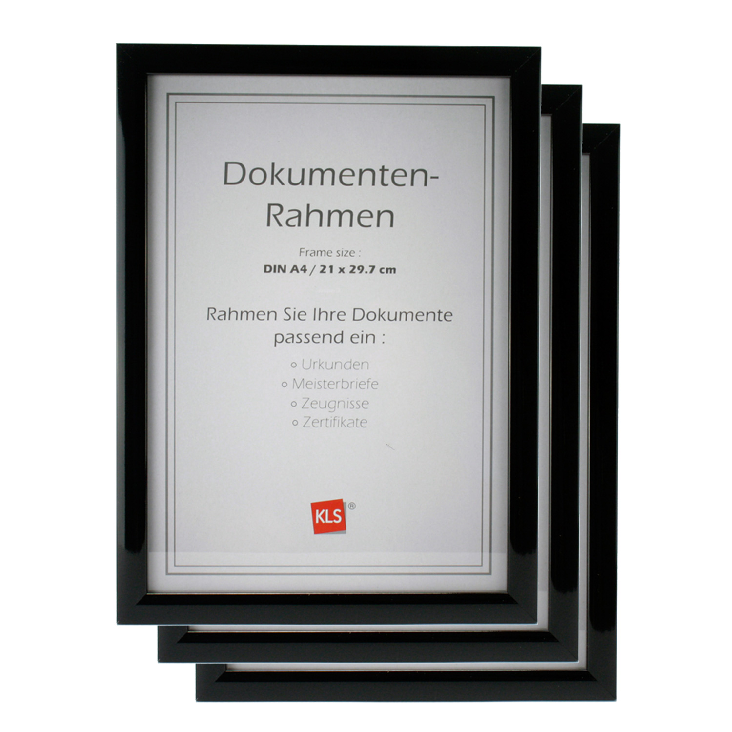 3x bilderrahmen urkunde dokumentenrahmen fotorahmen din a4. Black Bedroom Furniture Sets. Home Design Ideas