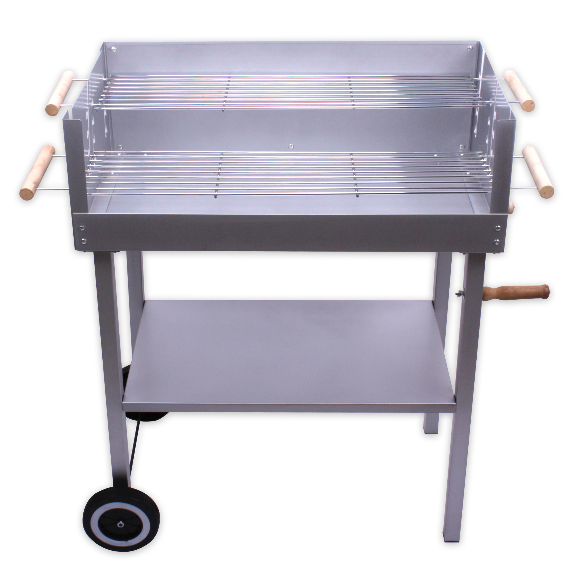 Barbecue grill 112 5 x 69 5 40 5 cm bbq charcoal 4 heat levels chrome plated - Grille barbecue 70 x 40 ...